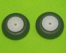 2pcs RC EVA Rubber Landing PU Wheels 1inch 26MM DN26 park fly 3D airplane Aircraft Toy Use