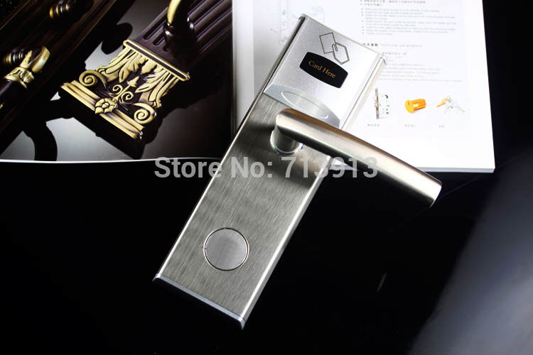 RFID RF Card Reader Hotel Door Lock With rfid door access control system for Hotel Guest Room ET101RF