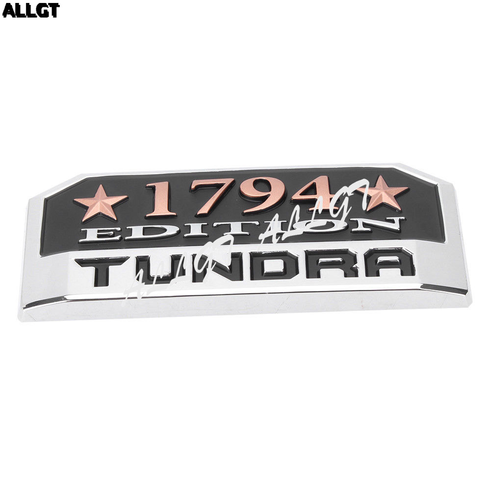 1x TUNDRA 1794 Edition Badge Emblem Sticker for TOYOTA Tundra 2014-2018 auto chrome camaro letters for 1968 1969 camaro emblem badge sticker
