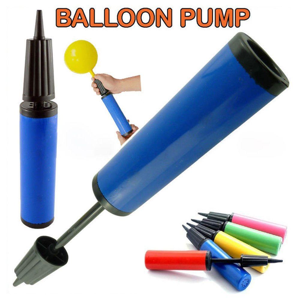 Balloon Pump Hand Held Dual Action Plastic Latex Balls Party Balloons Air Pump