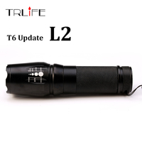New Tactical Flashligh E97 CREE XM L L2 4500 Lumens Led Torch Zoomable LED Light Lamp