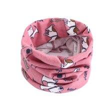 Детский Теплый хлопковый шарф, шаль, зимний Удобный Шейный платок с рисунком, TC21