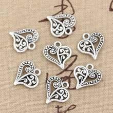 30 шт Очаровательные Полые милые сердца 15x14 мм ручной работы