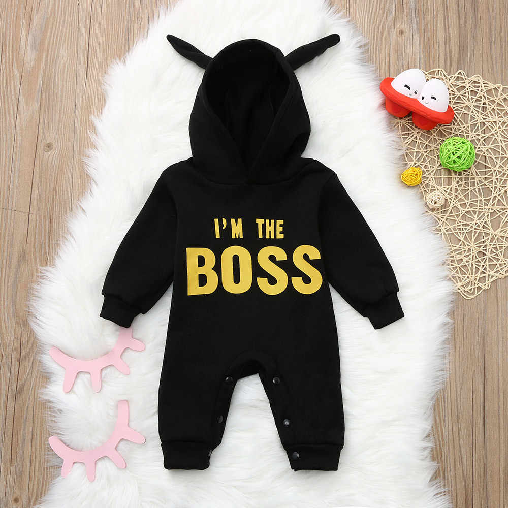 bcab388792611 Baby Clothes 2018 Rompers Toddler Kids Baby Letter Boys Girls Hoodie  Outfits Clothes Romper Jumpsuit vetement bebe garcon