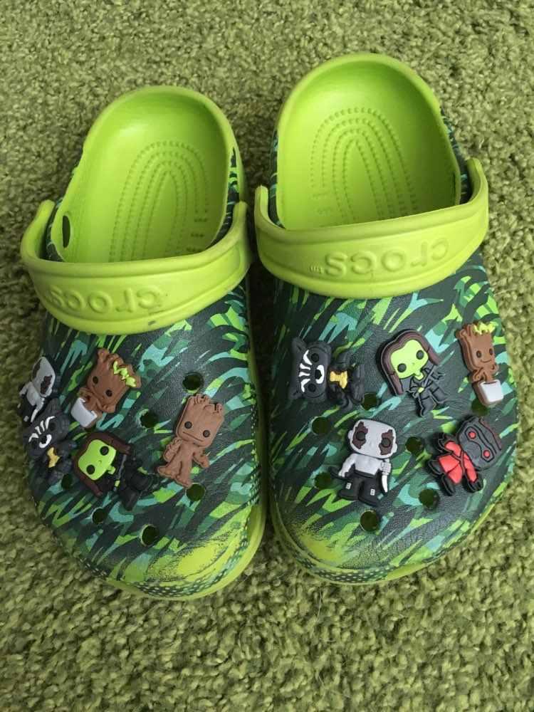 1pcs קריקטורה ליגת צדק חדי קרן Deadpool PVC נעל קסמי נעל אבזמי אבזר Fit צמידי קרוק JIBZ ילדים מתנה