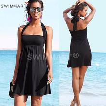 2016 New Women Bathing Suit Sexy Tube Top Swimwear Cover Up Trendy Beach Dress robe de plage