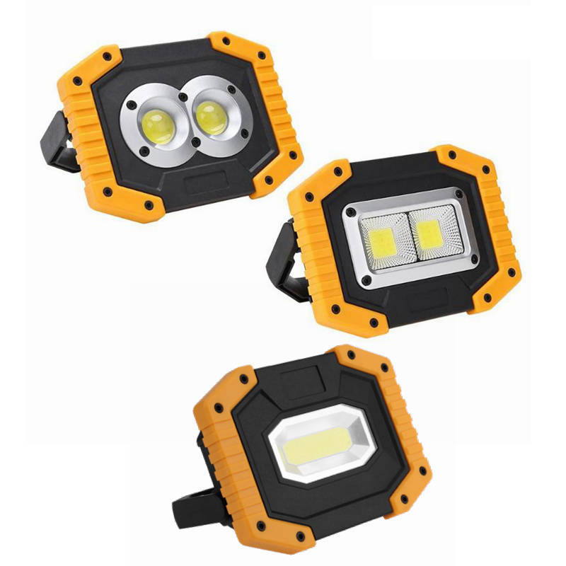 Portable COB LED Work Light USB Rechargeable Lamp Searchlight Waterproof Outdoor Spotlights Vehicle Maintenance Camping Lamp portable cob led work light waterproof outdoor usb rechargeable lamp searchlight vehicle maintenance emergency camping lamp
