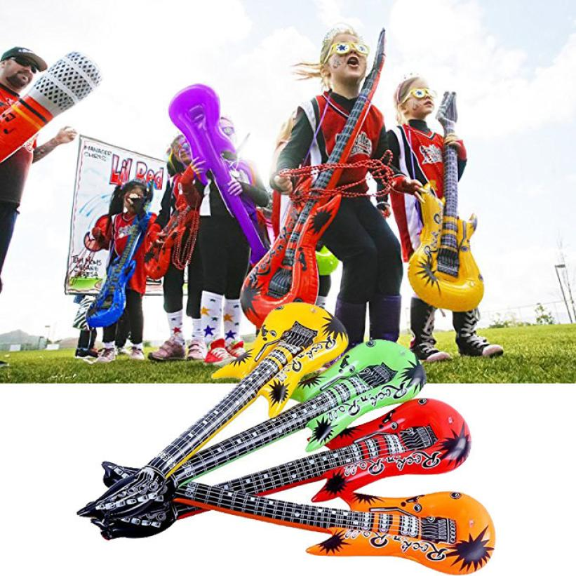 4pcs 55cm inflatable air guitar accessories for party kids party decor kids gift 6 7 in toy. Black Bedroom Furniture Sets. Home Design Ideas