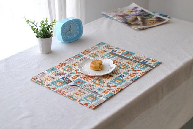 [RainLoong] Cartoon European Cotton Table Mat Pad Thermal Insulation For Restaurant Dinning Bar Kitchen Decoration 40x30cm
