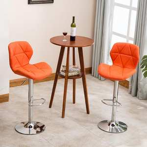 Home fashion creative beauty round stool turn bar chair rotating lift backrest chair high stool