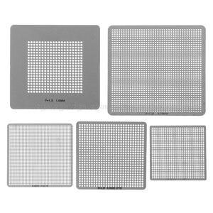Image 4 - 27/33/36/130 adet BGA şablonlar evrensel doğrudan ısıtmalı şablonlar SMT SMD Chip tamir Au11 dropship