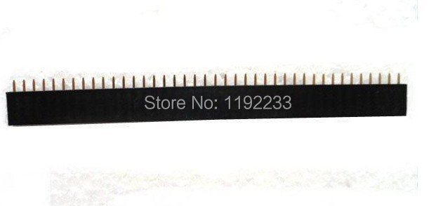 50pcs/lot 40 Pin 2.54mm Female Single Row Connector Pin Header