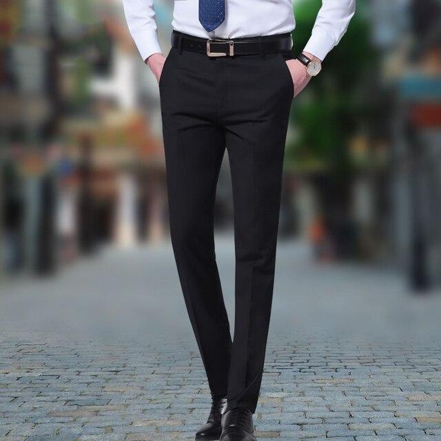 be5daa160b US $33.0 |Mens Dark blue Dress Pants Fashion Business Formal Suit Pants  Slim Fit Design Men Trouser Pants Men Party Dresses Office Trouser-in Suit  ...