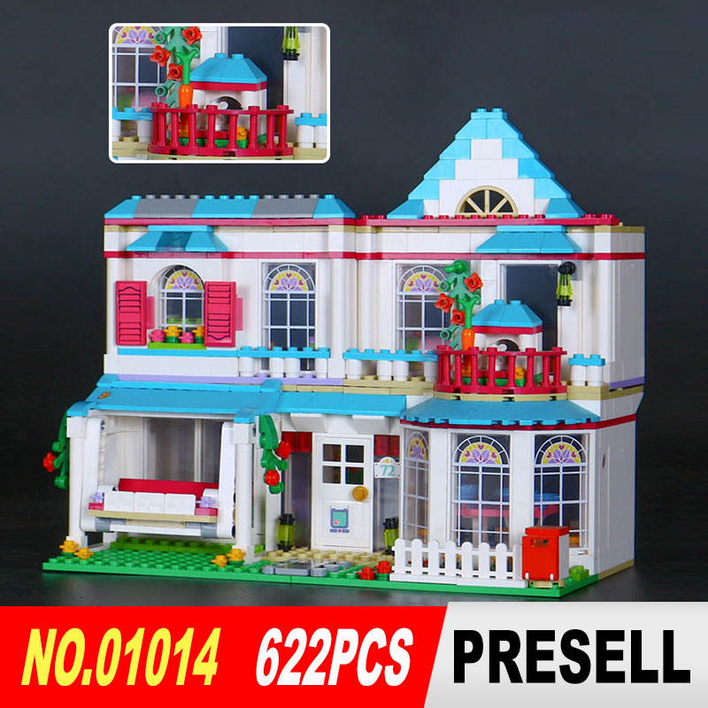 LEPIN 01014 622Pcs Girls Good friends Series Stephanie's house Model Building Blocks Bricks Toy Model Gifts Compatible 41314 48pcs good quality soft eva building blocks toy for baby