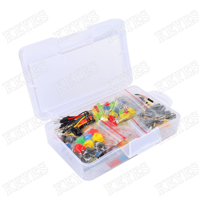 Starter Kit for  Resistor /LED / Capacitor / Jumper Wires / Breadboard resistor Kit with Retail BoxStarter Kit for  Resistor /LED / Capacitor / Jumper Wires / Breadboard resistor Kit with Retail Box