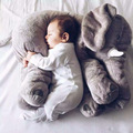 60CM One Piece Gray Elephant Plush Doll with Long Nose Cute PP Cotton Stuffed Baby Super Soft Elephants Toys Kids Toys