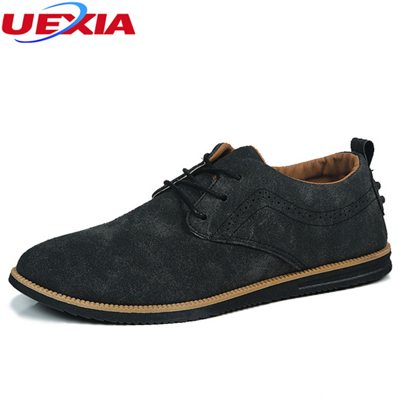 UEXIA Men Shoes Casual Office Work Men Fashion Flats Breathable Business Walking Shoes Lace Up Footwear Moccasins Zapatos Hombre high quality men casual shoes fashion lace up air mesh shoe men s 2017 autumn design breathable lightweight walking shoes e62