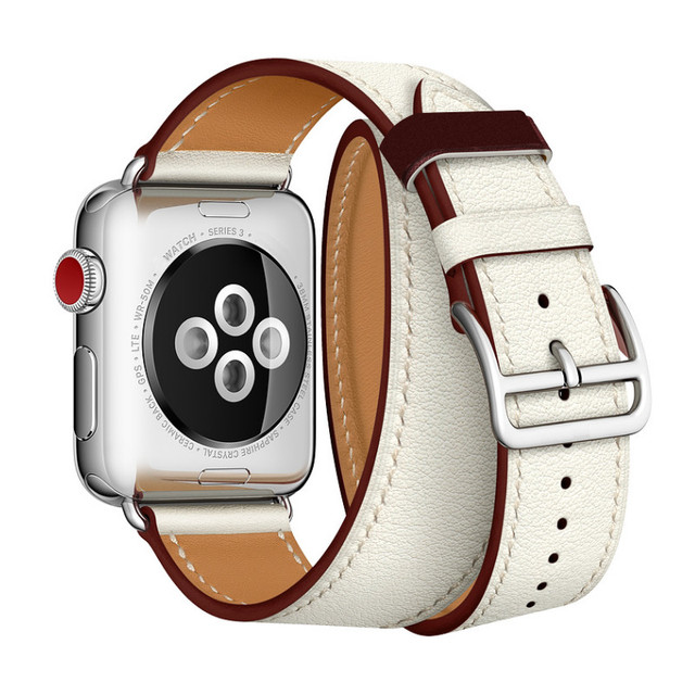 Newest Office Leather Strap For Apple Watch Series 4 Genuine Leather herm Wrist Band For Apple Watch 1 2 3 Single Tour Watchband | Fotoflaco.net