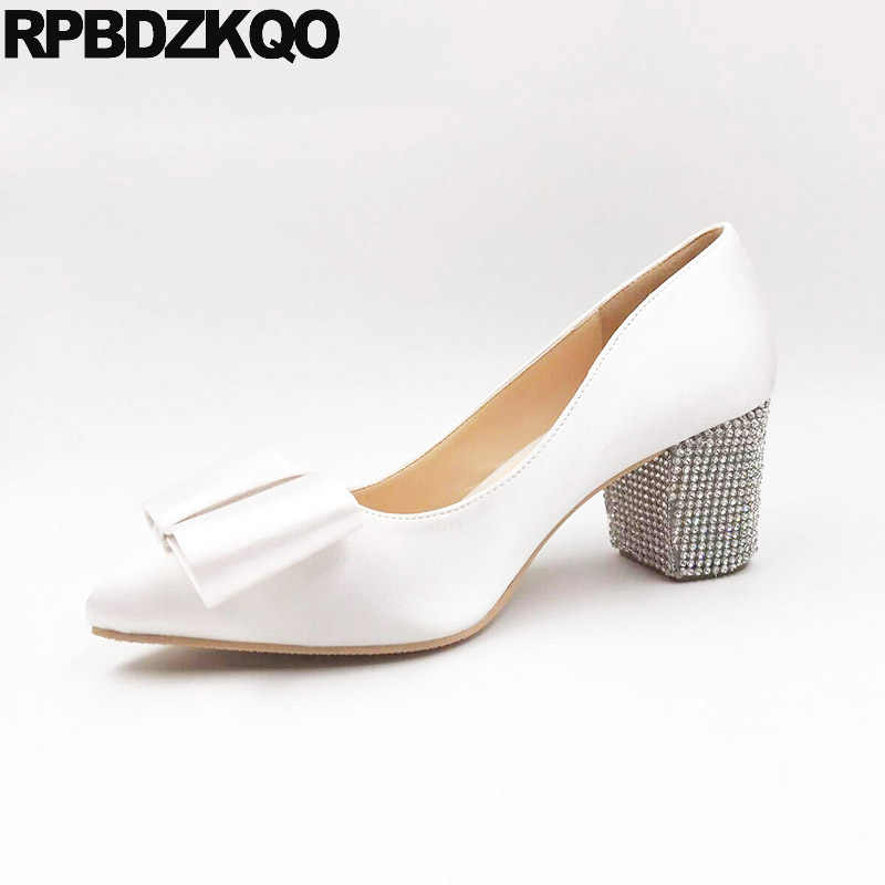 13 45 Pumps White Pointed Toe Ivory