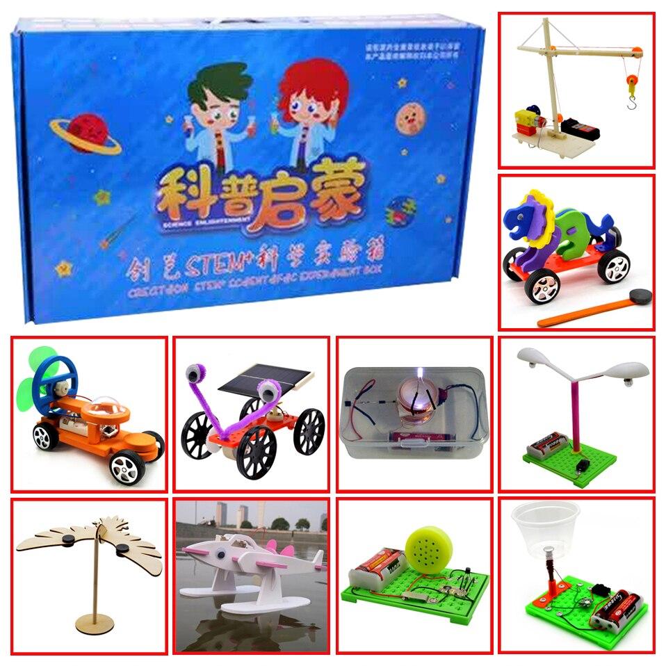 Promotion pack 3 # DIY Jouets dix sortes de différents électronique l'éducation assemblée auto kit pour: science DIY kits Enfant
