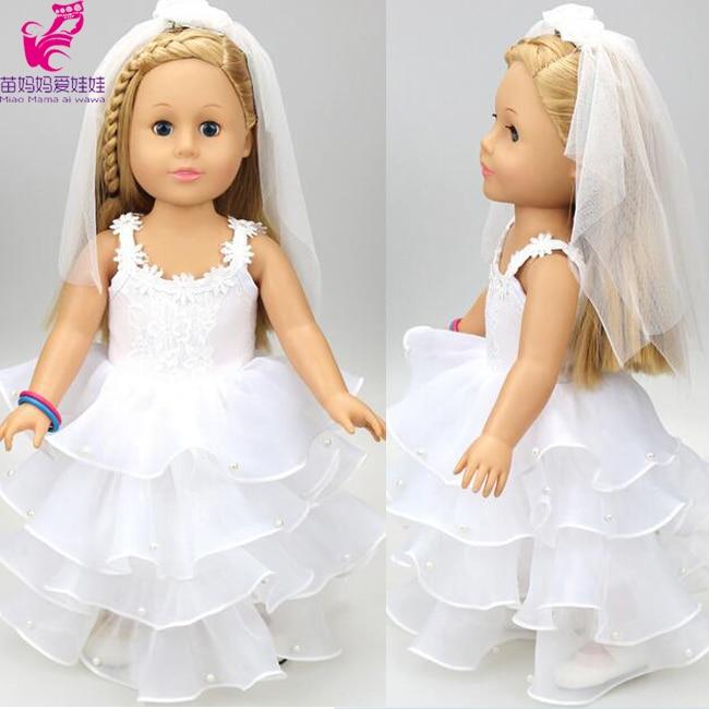 d2689c84604e9ac [MMMaWW] белое свадебное платье с вуалью для куклы 18