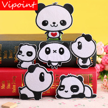 VIPOINT embroidery panda patch animal cartoon patches badges applique for clothing YX-135
