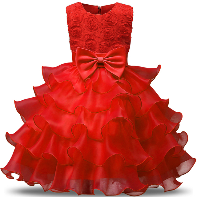 5b0c79316 Flower Kids Party Wear Dresses For Girls Infant Holiday Costume ...