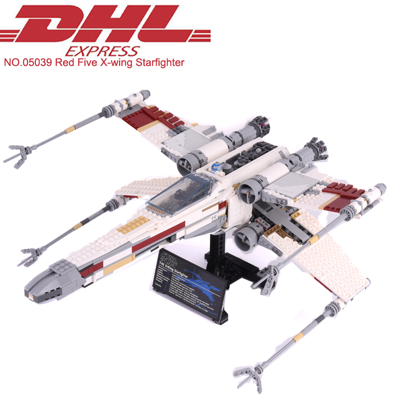 Lepin 05039 1586Pcs Star Wars Figures Red Five X-wing Starfighter Model Building Kits Blocks Bricks Kids Toy Compatible 10240 a toy a dream lepin 15008 2462pcs city street creator green grocer model building kits blocks bricks compatible 10185