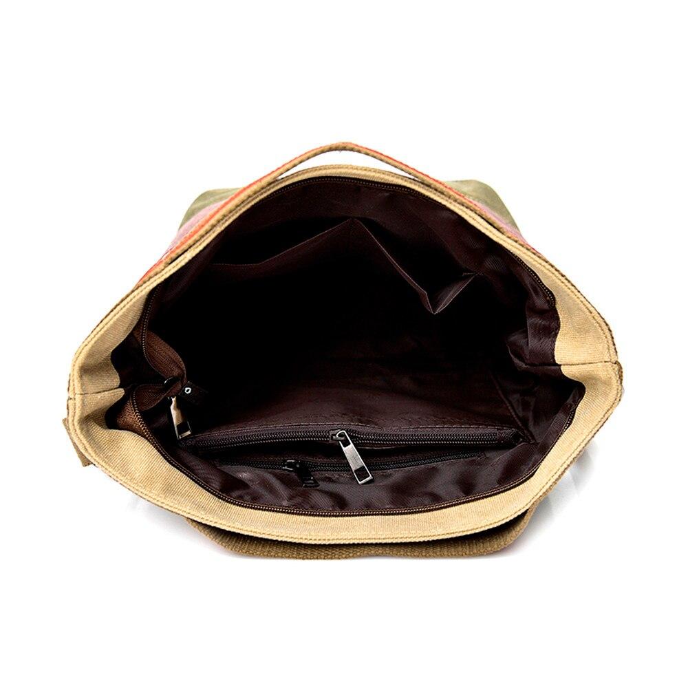 Casual handbag Women Canvas Splice Stripe Crossbody Shoulder Bag casual Totes super quality bolsa feminina 5