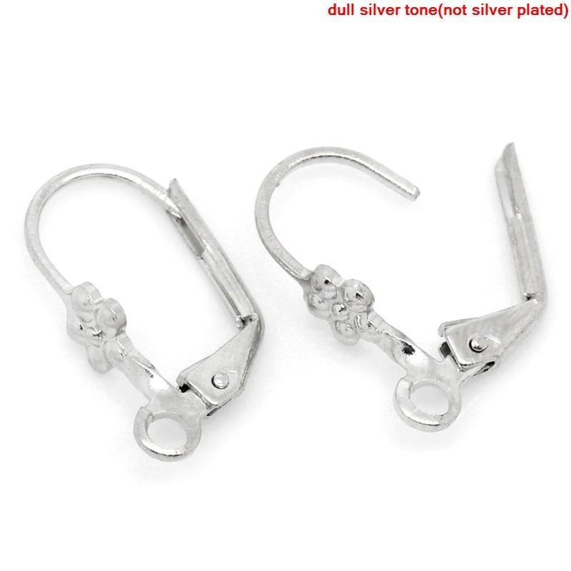 DoreenBeads Zinc Metal Alloy Earrings Clips Earring Findings Silver Tone 16mm( 5/8