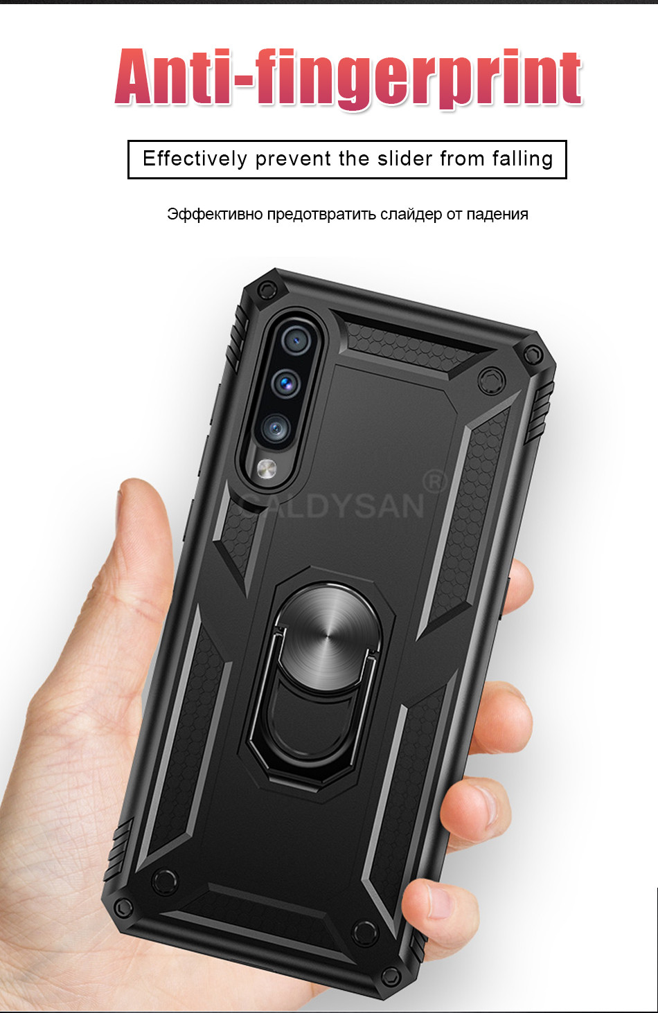 HTB1ZbK1cCWD3KVjSZSgq6ACxVXaz - Luxury Armor Shockproof Case For Samsung Galaxy A50 A30 A51 A71 S20 Ultra S9 S10 S8 Note 8 9 10 Plus Car Holder Ring Case Cover