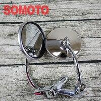 Vintage Motorcycle Stainless Steel Rearview Mirror High Performance Mirror For Motorcycle Stallions Centaur Centaur150