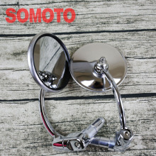 universal cafe racer mirror motorcycle stainless steel rearview mirror vintage motorcycle handle bar rearview mirror