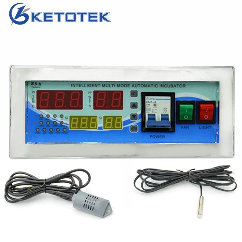 Contrôleur d'humidité de régulateur de Thermostat numérique d'incubateur AC 180 V ~ 240 V 50 HZ contrôle d'humidité de température d'incubateur d'oeufs