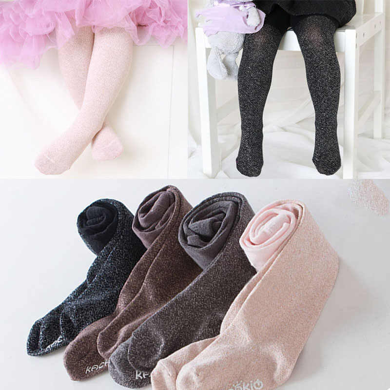 48e712c825c8c ... Fashion New Baby Girl Tights Shiny Glitter Newborn Toddler Girls Tights  Stockings Winter Clothes meisje pantyhose ...