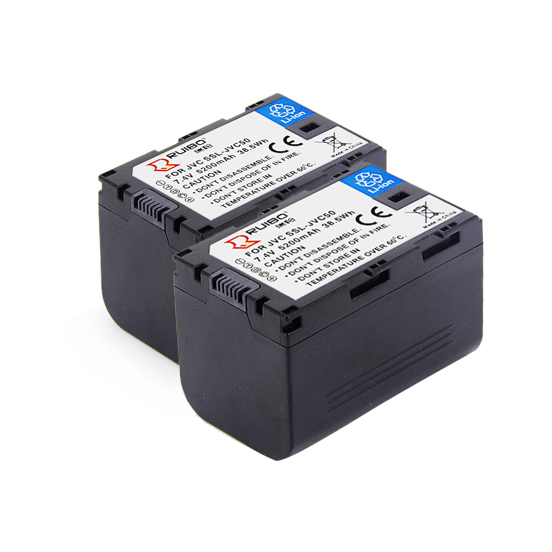 5200 mAh HM600EC 650 jy-hm360 HMQ10 caméra ssl-jvc50 batterie au lithium JVC80