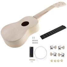 21 Inch Ukulele DIY Kit Hawaii Guitar Handwork Support Painting Children's Toy Assembly for Amateur