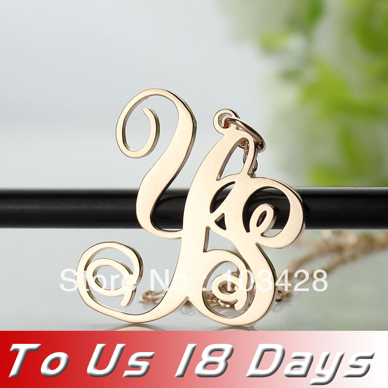 Ailin Freeshipping 2 Letters Rose Gold