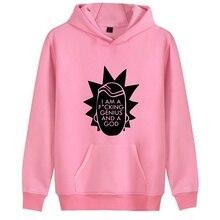 цена на Rick Morty Cartoon Print Cartoon Trendy Harajuku hoody with Kangaroo Pocket leisure Unisex pullover A193141