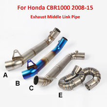 Slip on Exhaust System Motorcycle Connect Link Pipe Middle Link Tube For Honda CBR1000RR 2008 2009 2010 2011 2013 2014 2015 цена 2017