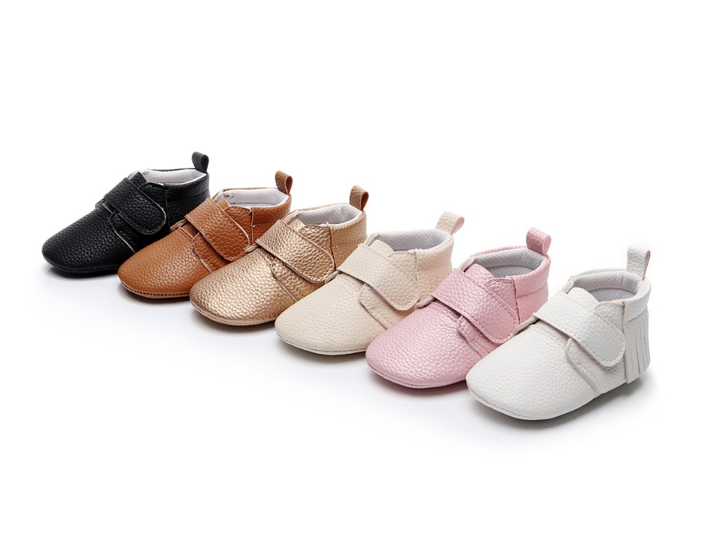 6 Colors Brand Spring Baby Shoes PU Leat