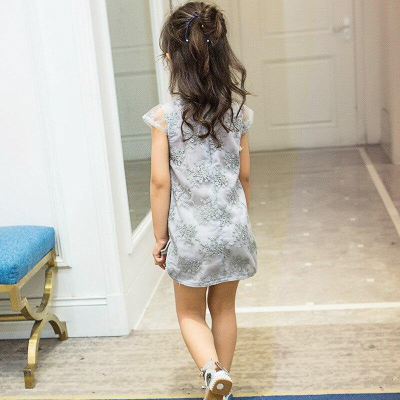 2017 Sommer Kinesisk stil Retro behagelig qipao Kjole sød Barn pige - Børnetøj - Foto 3
