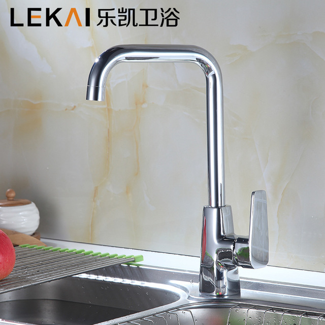 Vertical Fine Copper Kitchen Hot And Cold Faucet Single Water Tank Pots  Stainless Steel Faucet Plumbing
