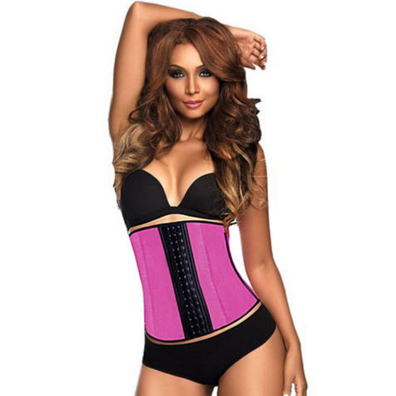 421ec1733 Hot New Korse Plus Size Waist Trainer Women Sexy Gaine Amincissante Corset  Latex Waist Cincher Clothing Black Blue Purple Pink-in Waist Cinchers from  ...