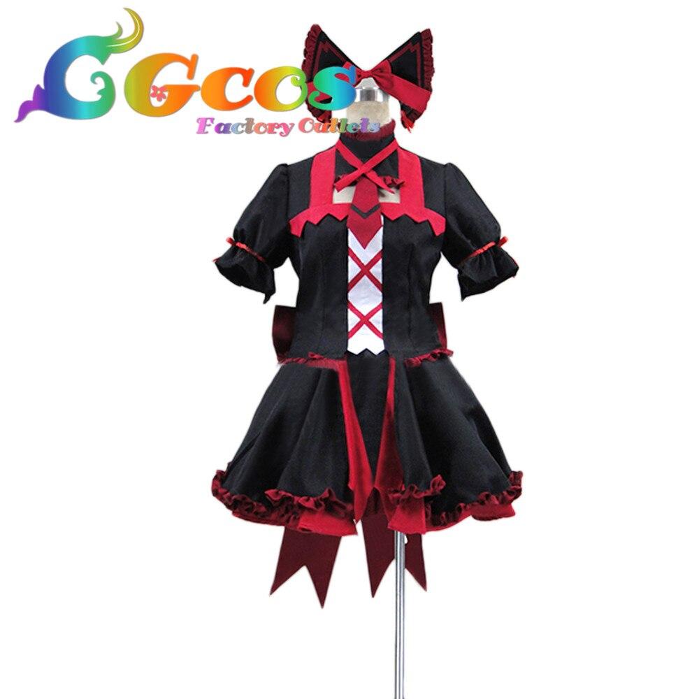 CGCOS livraison gratuite Costume Cosplay porte Jieitai Kano Chi nite Kaku Tatakaeri Rory Mercury Halloween fête de noël uniforme