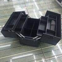 Большая емкость косметический корпус, визажист многослойный ящик для инструментов, макияж для ногтей инструменты коробка, красивая сумка М