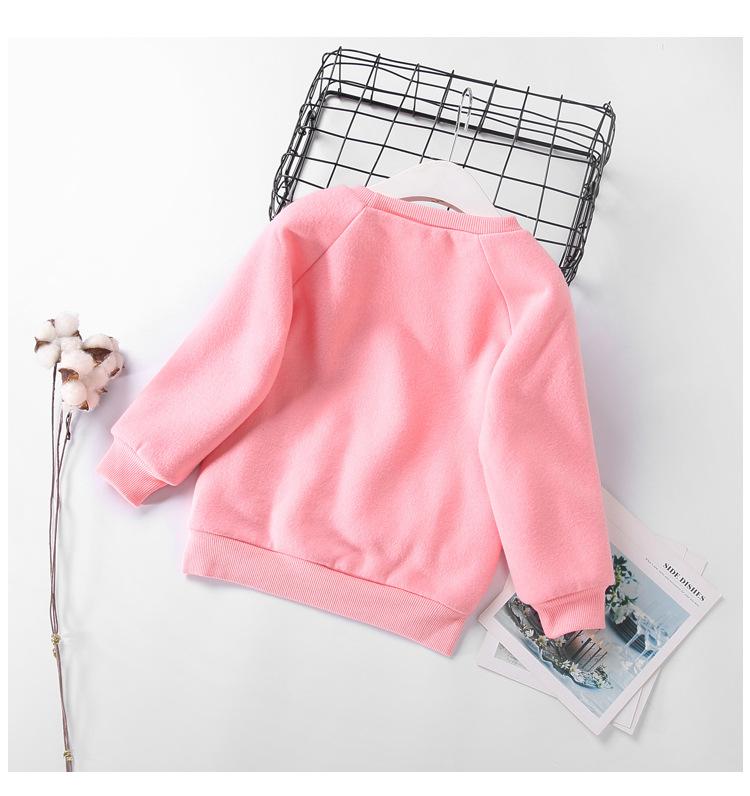 Cute Ball Ice Cream Girls Sweatshirt Autumn Winter Thick Warm Kids Sweatshirts for Girl O-neck Long Sleeve Children Top Clothing 6