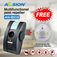Ultrasonic Electromagnetic Anion pest mouse rat fly repeller pest reject control ( Got cockroach repeller free) with GS plug