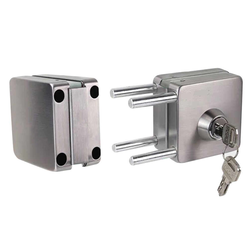 Stainless Steel 10-12mm Glass Door Lock Double Sides Open No Drilling Gate Lock DAG-shipStainless Steel 10-12mm Glass Door Lock Double Sides Open No Drilling Gate Lock DAG-ship