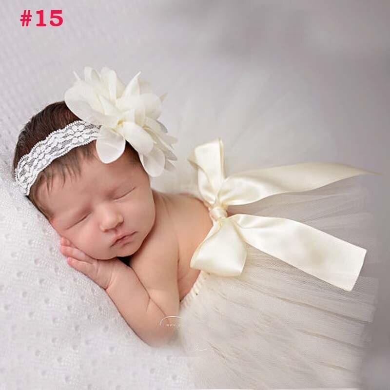 Лидер продаж; фатиновая юбка-пачка для маленьких девочек и повязка на голову с цветами; Комплект для новорожденных; реквизит для фотосессии; подарок на день рождения; 10 цветов; ZT001